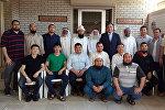 Азирети муфтий Максат ажы Токтомушев Кувейттеги Ислам маданияты жана араб тилин үйрөтүү борборунда билим алып жактан кыргызстандык студенттерден кабар алды