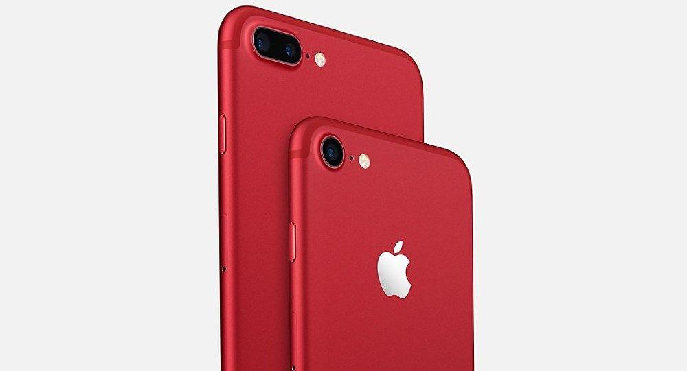 Америкалык Apple корпорациясы чектелген көлөмдө чыгарылган кызыл түстөгү iPhone 7 менен iPhone 7 plus аппараттары