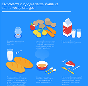 Кыргызстан күнүнө киши башына канча товар өндүрөт