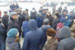 Нарын шаарынын тургундары электр энергиясын арзандатуу талабы менен кайтадан митингге чыгышты