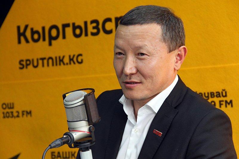 Глава агрохолдинга ATALYK GROUP Туратбек Укубаев во время интервью на радио Sputnik Кыргызстан