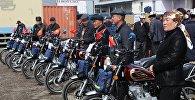 Ветеринары Ошской области на вручении мотоциклов