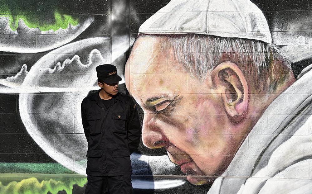 Граффити в мексиканском городе Экатепек-де-Морелос