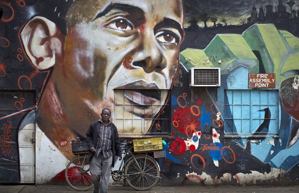 Граффити на улицах Найроби