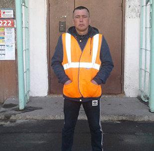Мигрант из Кыргызстана, работающий в Иркутске Каныбек Абдулазизов