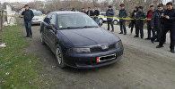 Машина, где нашли тело подполковника Таирбека Уларова в Оше