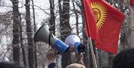 Участники митинга в Бишкеке. Архивное фото