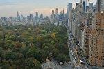 Вид на центральный парк в городе Нью-Йорк. США