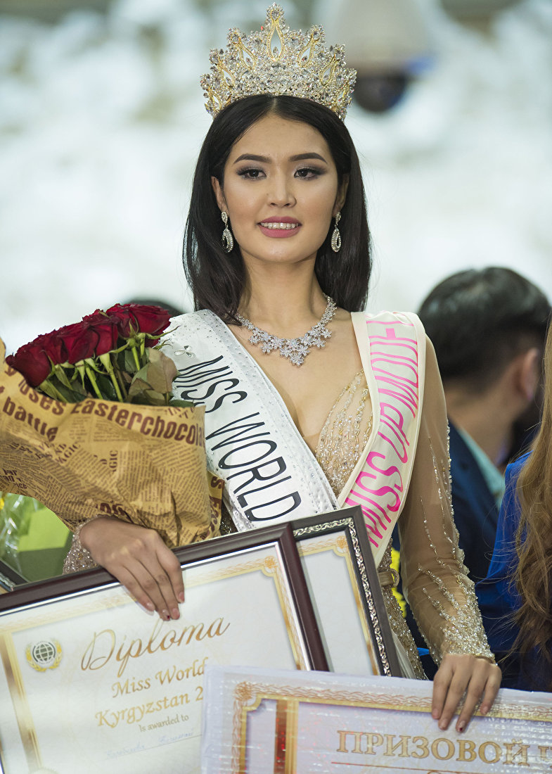 Победительница конкурса Мисс Кыргызстан — 2017, 19-летняя студентка Бегимай Карыбекова