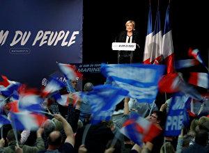 Лидер политической партии Национальный фронт Марин Ле Пен