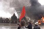 Обращение Атамбаева сделали в виде ролика с кадрами апрельских событий