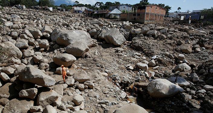Колумбиянын Мокоа шаарында болгон сел 102ден кем эмес баланын өмүрүн алып кетти.