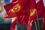 Флга Кыргызстана. Архивное фото