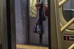 Равнодушие по-американски — женщину зажало дверями поезда