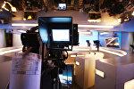 Студия новостного телеканала. Архивное фото