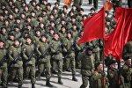 Россиядагы 9-майда болуучу аскердик парадга даярдануу. Архивдик сүрөт