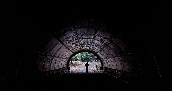Мужчина идёт по тоннелю бруклинского Проспект-парка в Нью-Йорке. Архивное фото