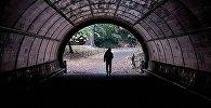 Мужчина идёт по тоннелю. Архивное фото
