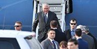Государственный секретарь США Рекс Тиллерсон, прибывший с рабочим визитом в РФ, в аэропорту Внуково-2.