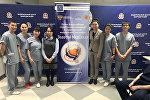 Команда Кыргызской государственной медицинской академии (КГМА), ставшая победительницей в номинации Лучшие навыки работы с пациентом на V Всероссийской олимпиаде