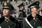 Сотрудники полиции Пекина. Архивное фото