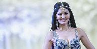 Победительница конкурса Мисс Кыргызстан — 2017, 19-летняя студентка Бегимай Карыбекова. Архивное фото