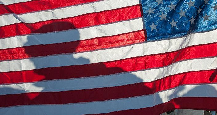Флаг Соединённых Штатов Америки. Архивное фото