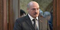 Президент Белоруссии Александр Лукашенко перед началом заседания Высшего Евразийского экономического совета (ВЕЭС) на уровне глав государств в узком составе в резиденции Ала-Арча в Бишкеке.