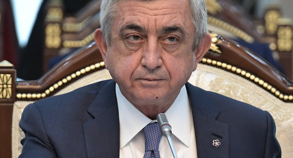 Архивное фото экс-президента Армении Сержа Саргсяна