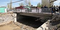 Строительство нового моста в микрорайоне Достук города Ош