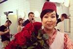 Уроженка Кыргызстана Жаныл Асанбекова, сыгравшая роль в популярном телесериале Кухня