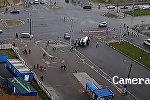 Милицейский УАЗ столкнулся с маршруткой — реакция очевидцев в Беларуси