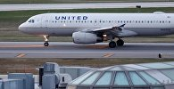 Архивное фото самолета авиакомпании United Airlines