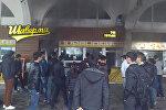 Бишкектин Ала-Тоо аянтында кафе өрттөнүп жатат