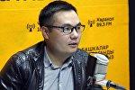 ТВ Кайгуул берүүсүнүн алып баруучусу Азият Жекшеев маек учурунда