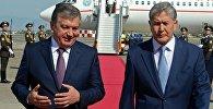 Президент Кыргызской Республики Алмазбек Атамбаев и президент Узбекистана Шавкат Мирзиёев. Архивное фото