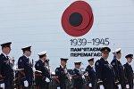 Марш военных оркестров во время празднования 70-летия Победы в Великой Отечественной войне 1941-1945 годов в городе-герое в Киеве. Архивное фото