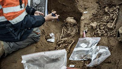 Археолог во время раскопок. Архивное фото