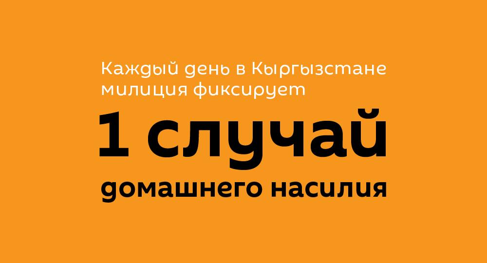 Каждый день в Кыргызстане фиксируется 1 случай домашнего насилия