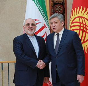 Двусторонние переговоры министра иностранных дел КР Эрлана Абдылдаева и коллегой из Ирана Мохаммадом Джавад Зарифом