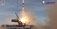 LIVE: Запуск сокращенного экипажа МКС на Союзе МС-04 с космодрома Байконур