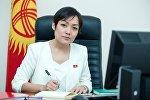 Депутат Жогорку Кенеша от фракции СДПК Аида Касымалиева. Архивное фото