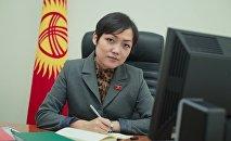 Жогорку Кеңештин депутаты Аида Касымалиева. Архив