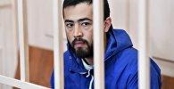 Подозреваемый в соучастии в организации теракта в Петербурге Акрам Азимов в Басманном районном суде Москвы, где рассматривается ходатайство следствия о его аресте.