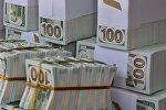 Продажа сувенирных долларов США. Архивное фото