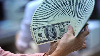 АКШ долларларын кармап турган аял. Архив