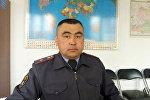 Ош ОИИБдин Кайгуул милиция бөлүмүнүн техникалык көзөмөл тобунун кызматкери Алтынбек Турдубаевдин архивдик сүрөтү