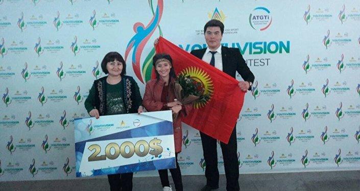 Кыргызстандык ырчы НурЧолпон Азербайжандын Баку шаарында өткөн эл аралык Youthvision – 2017 музыкалык сынагында экинчи орунду багындырды