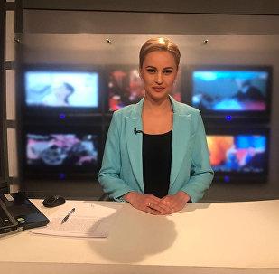 Журналистка, телеведущая Пятого канала Евгения Губина. Архивное фото