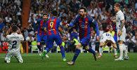 Чабуулчу Лионель Месси Барселона жана Реал Мадрид беттешинде гол киргизгендег кийин